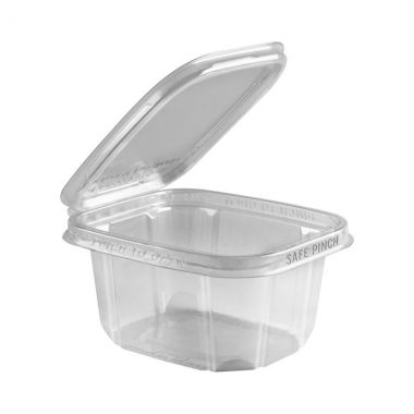 Safe Pinch Tamper Evident Square Hinged Container (473ml)