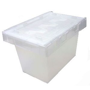 34L Clear Security Crate with Lid