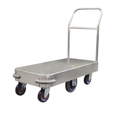 6 Wheel Narrow Stock Platform Trolley (Single Handle)