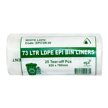 100% Degradable Garbage Bag Liners - Perforated Roll (73L)
